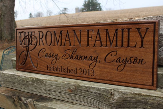 custom wood personalized signs wood family signs for etsy