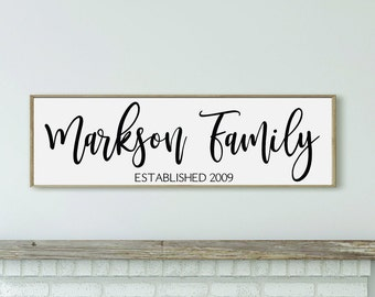 Personalized family name sign-family established sign-family name wood sign-Custom Family sign-family name wall sign-family gift for parents