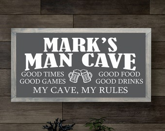 Man cave signs-personalized man cave sign decor-custom bar sign-Father's day gift-custom pub sign-garage man cave-groomsman gift-home bar