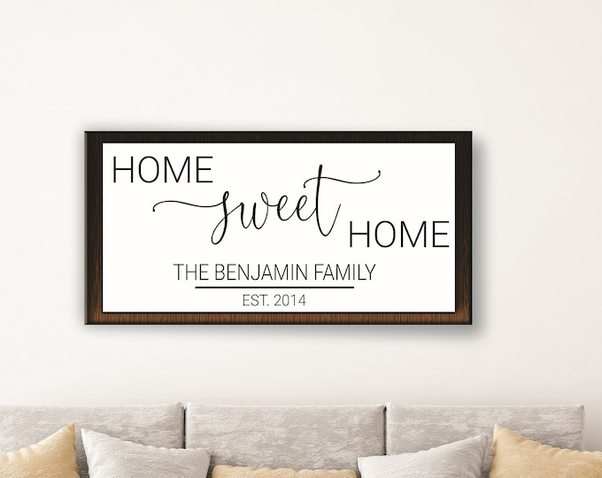 Home sweet home sign-personalized for home-housewarming gift-realtor closing gift-new home gift-home established sign