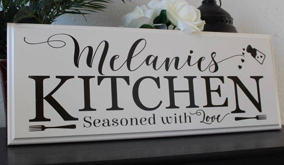 Personalized Kitchen Signs Gifts Decor Items Kitchen Decor Art Gift For Mom Birthday Name Sign Gift For Cook Chef Custom Kitchen Sign
