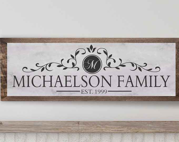Personalized family sign-wooden name sign-personalized sign for home-family name wood sign-new home gift-Housewarming gift-family gift