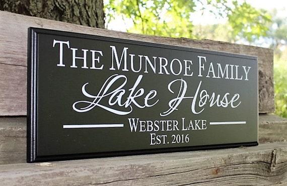 Lake House Sign Lake House Decor ENSA1002954 Welcome Lake Sign