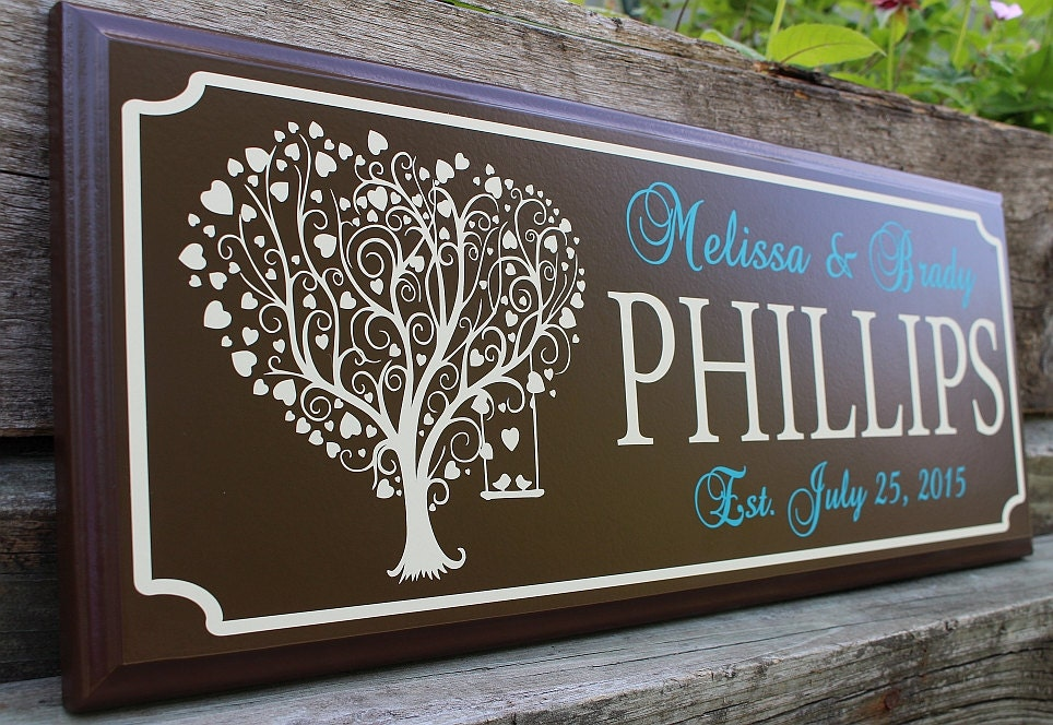 Personalized Wedding Sign Gift For Newlyweds Best Friend Gift For