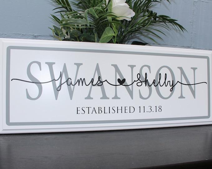 Personalized Wedding Gift for Couple-Established Wedding Sign-custom wedding gift-bridal shower gift-wedding gift last name establish