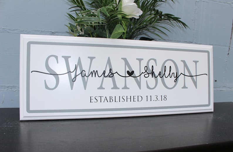 Gift For Couple On Wedding: Personalized Wedding Gift For Couple-Established Wedding