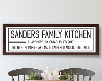 Kitchen sign-Kitchen decor-gifts-personalized kitchen sign-for kitchen wall decor art-customized kitchen sign-seasoned with love-moms