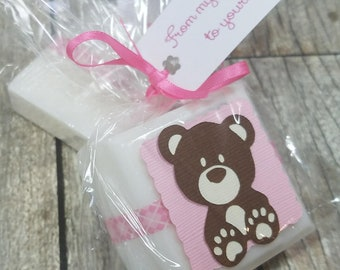 Teddy Bear Baby Shower favors for girls, boys or gender neutral - Choose your colors