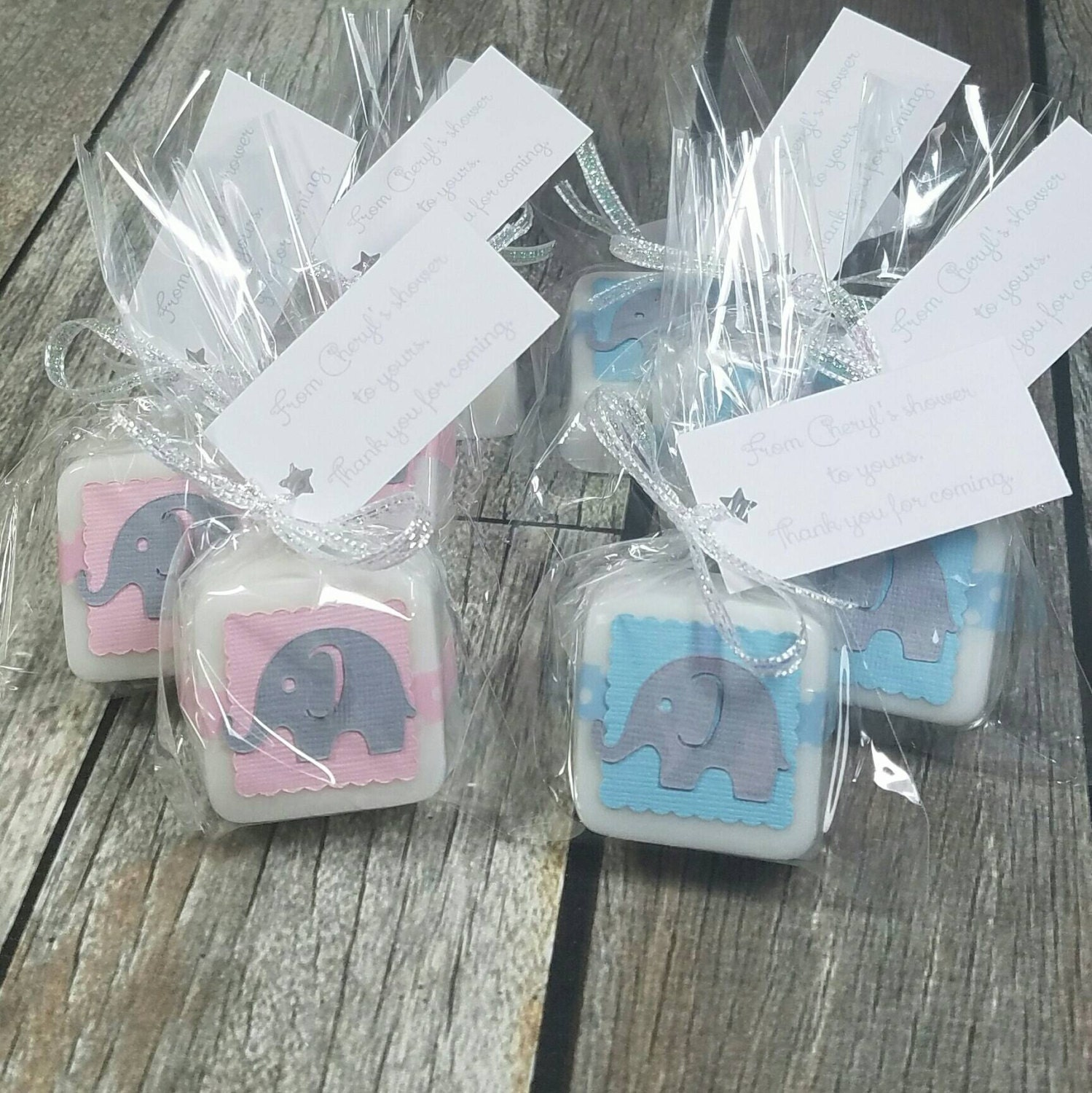 Gender reveal ideas party favors twin baby shower favors ...