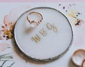 Marble Glass Ring Holder | Wedding & Engagement Ring Dish