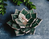 Stained Glass Succulent Engagement Ring Dish | Wedding Ring Holder