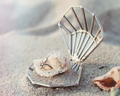 Proposal Ring Box, Seashell Ring Holder, Ring Bearer Box, Unique Wedding Ring Box, Seashell Ring Box, Beach Wedding Decor, Glass Ring Box
