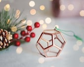 First Home Ornament, Stained Glass Geometric Ornaments, Copper Ornaments Set for Christmas, Unique Ornaments