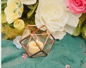 Rustic Glass Votive Candle Holders | Copper Wedding Decor