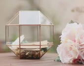 Wedding Card Box Wedding Money Box Rustic Wedding Box Large Glass Card Box Geometric Envelope Holder Wishing Well Box Large Terrarium