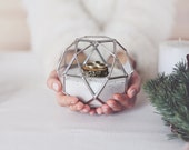 Glass Geometric Ring Bearer Box | Spring Wedding Decor | Wedding Ring Box | Engagement Ring Box | Gifts for the Couple