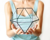 Stained Glass Geometric Terrarium, Reptile Terrarium, Succulent Terrarium, Moss Terrarium, Math Teacher Gift
