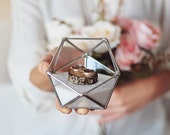 Geometric Ring Bearer Box for Wedding Ceremony