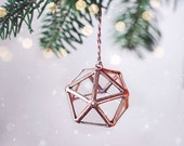 Stained Glass Geometric Ornaments Set of 5, First Home Ornament, Secret Santa Gift, Fairytale Gift, Gifts Under 25, Unique Ornaments