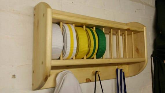 Karate Belt or Trophy Display Shelf, taekwondo, judo  kickboxing, storage,  awards