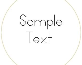 Backstitch font | Etsy