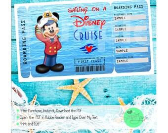 Ticket kreuzfahrt | Etsy