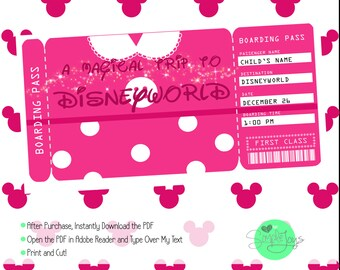 photograph about Printable Disney Tickets called Printable Ticket in direction of Disney Disneyworld/Disneyland Boarding