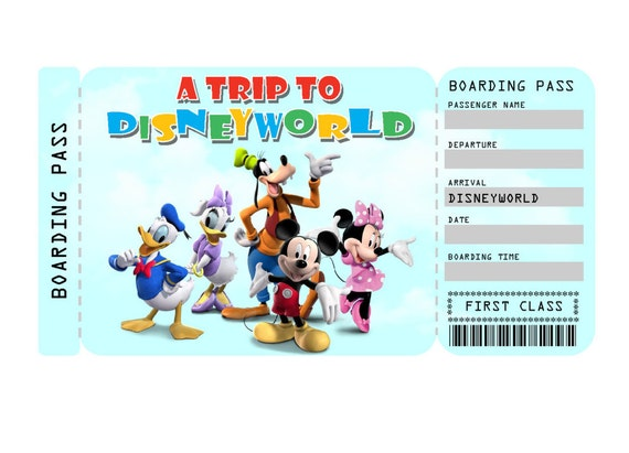 picture relating to Disney World Printable Tickets named Printable Ticket in direction of Disneyland/Disneyworld