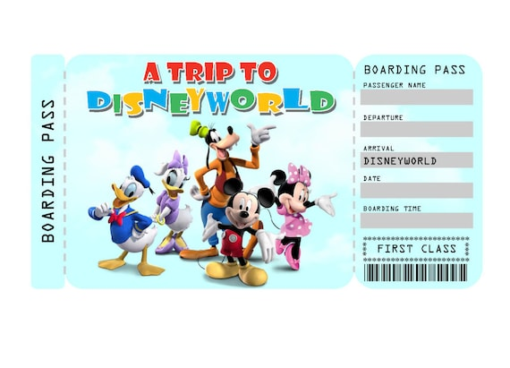 graphic relating to Disney World Printable Tickets titled Printable Ticket in direction of Disneyland/Disneyworld