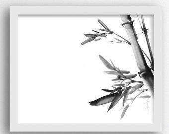 Bamboo Abstract Tropical Prints, Bamboo Digital Print, Asian Art Prints  Bamboo Print, Bamboo Artwork, Asian Prints, Black White Print
