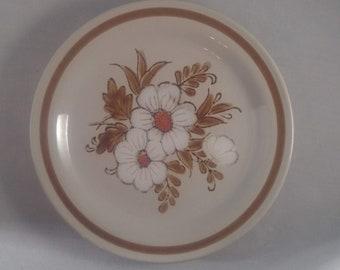 Mountain Wood Collection Trellis Blossom Set of 7 Stoneware Dessert Plates