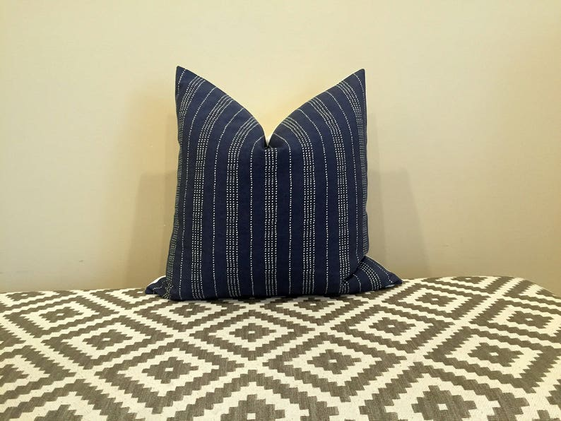 Dark blue pillow navy cushion cover navy throw pillow navy image 0