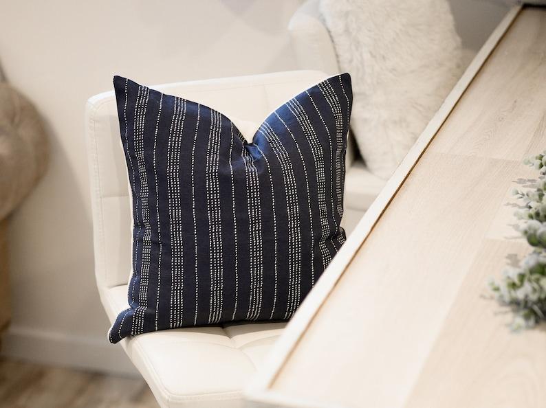 Dark blue pillow navy cushion cover navy throw pillow navy image 0