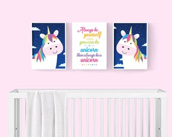 Unicorn Print - Girls Room Decor - Nursery Decor - Unicorn Wall Art - Girls Room Art Print - Unicorn Decor - Unicorn Art Print - Wall Art