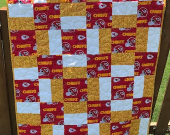 Kansas City Chiefs Quilt For Baby, For Lap, For Stadium, For Number One Chiefs Fan, Ready To Ship