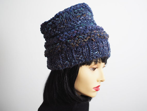 23f327d2b35 VALDA Blue slouchy beanie Ready to ship Blue crochet hat