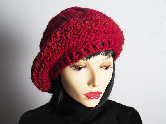 41d1e46afdd ILSE Red slouchy beanie Ready to ship Dreads hat Rasta