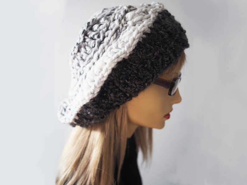 8f0f8a922e6 White slouchy beanie Ready to ship Chunky knit hat Crochet