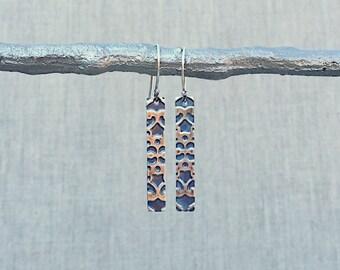 Silver Bar Earrings, Sterling Silver Earrings, Audra Earrings