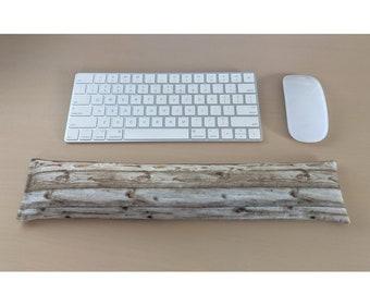 Keyboard Rest Wood Grain Cotton Flaxseed