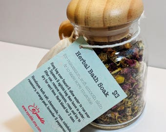 Herbal Bath Soak - Bath Soak - Herbal Bath - Tub Tea - Bath Time Tea - Herbal Bath Blend - No Mess Bath - Himalayan Bath Salts - Bath Soaks