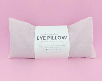 Lavender Eye Pillow Pink Blush Warm or Cool Linen Cotton Blend
