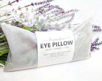 Lavender Eye Pillow Light Gray Warm or Cool Linen Cotton Blend