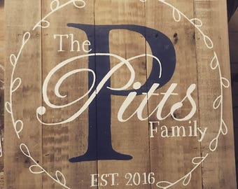 Family Established Sign, Family Name Sign, Custom Family Sign, Personalized Name Sign, Family Name, Family Rustic Sign, Reclaimed Wood Sign