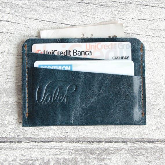 7d656cfe4191c Portfel męski-minimalistyczny portfel-Włoska skórzana benzyna | Etsy