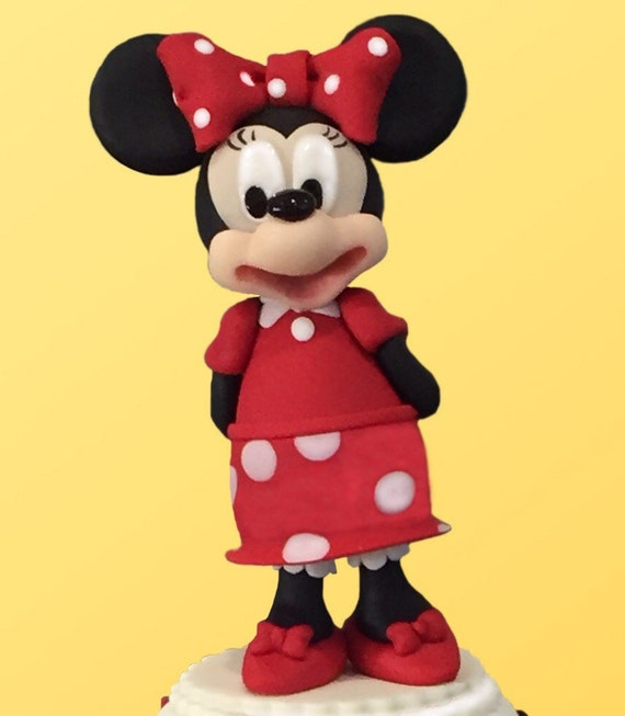 Edible Fondant Minnie Mouse girl Inspired Cake Topper   Etsy