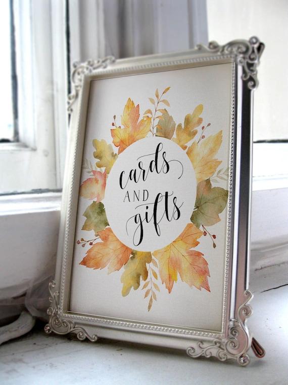 Karten Und Geschenke Druckbare Herbst Baby Dusche Zeichen Etsy