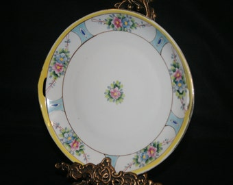 Double Handled, Hand Painted, NIPPON, JAPAN, Decorative Plate