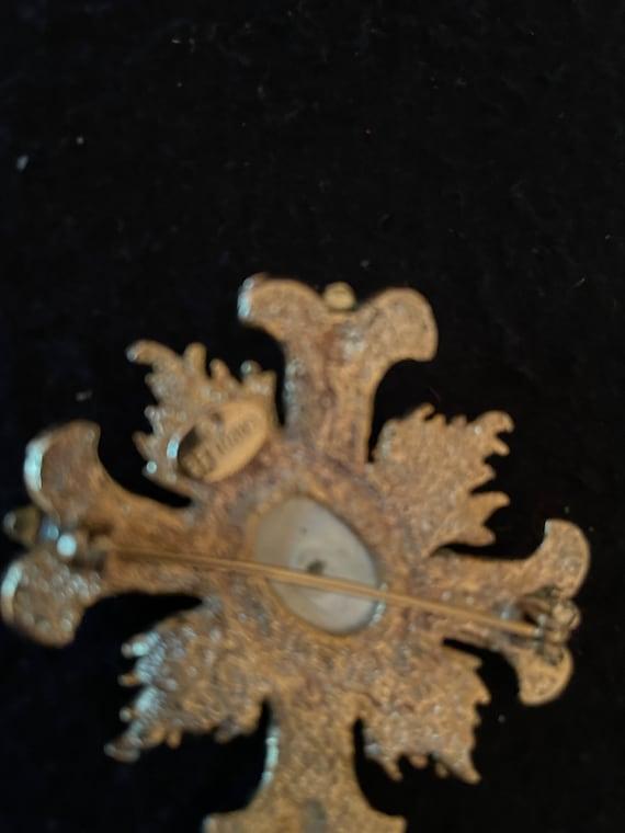 Vintage, BeautifuL, CAROLEE, Signed, Ornate gold … - image 6