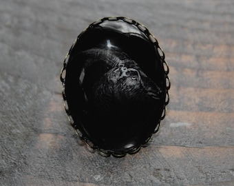 Black Phillip Large Ring